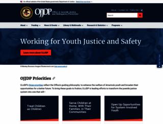 ojjdp.gov screenshot