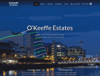 okeeffeestates.ie screenshot