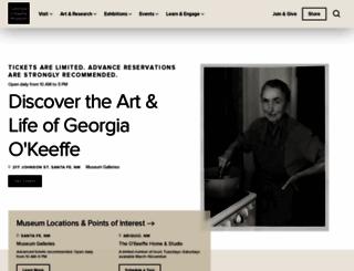okeeffemuseum.org screenshot