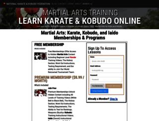 okinawamartialarts.com screenshot