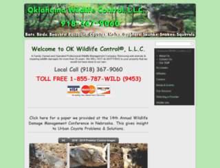 oklahomawildlifecontrol.com screenshot