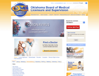 okmedicalboard.org screenshot