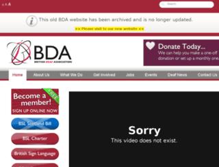 old-bda.org.uk screenshot