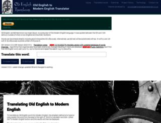 oldenglishtranslator.co.uk screenshot