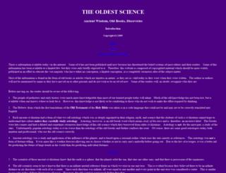 oldestscience.us screenshot