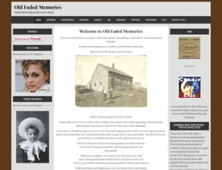 oldfadedmemories.com screenshot