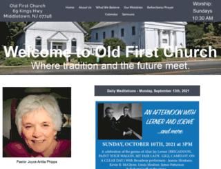 oldfirstchurchnj.org screenshot