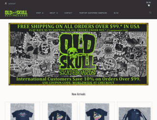 oldskullskateboards.com screenshot