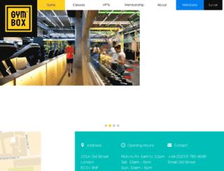 oldstreet.gymbox.com screenshot