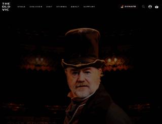 oldvictheatre.com screenshot