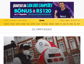olimpiadas.uol.com.br screenshot