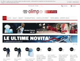 olimposportshop.it screenshot