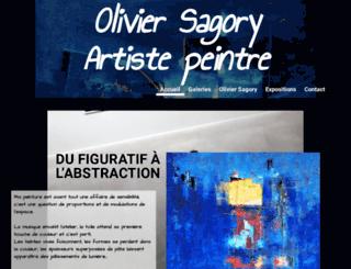 oliviersagory-artistepeintre.com screenshot