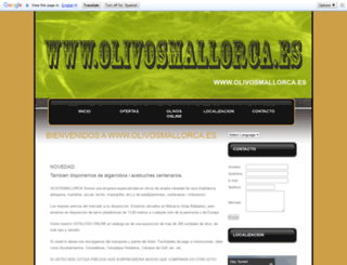 olivosmallorca.com screenshot