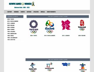 olympicgameswinners.com screenshot