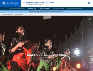 oma.jhu.edu screenshot