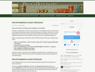 omas-geheimtipp.de screenshot