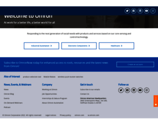 omron.us screenshot