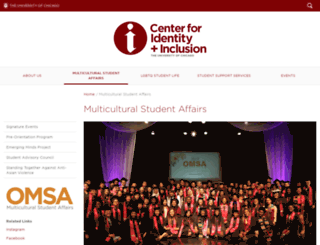 omsa.uchicago.edu screenshot