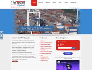omtrans.in screenshot