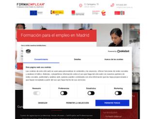 oncentrodeformacion.com screenshot
