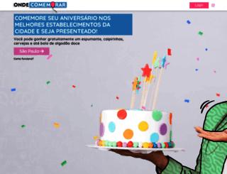 ondecomemorar.com.br screenshot