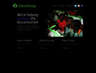 onebeep.org screenshot