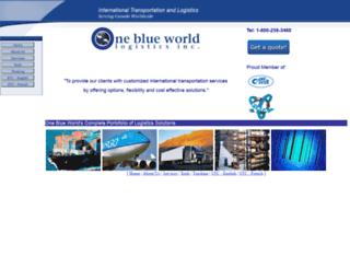 oneblueworld.ca screenshot