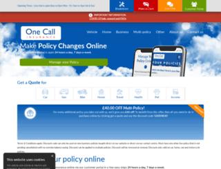 onecalldirect.co.uk screenshot