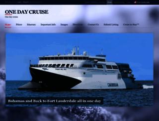 onedaycruise.com screenshot