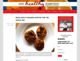 onehealthyhamptons.com screenshot