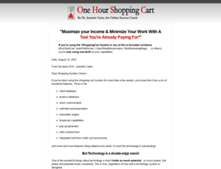 onehourshoppingcart.com screenshot
