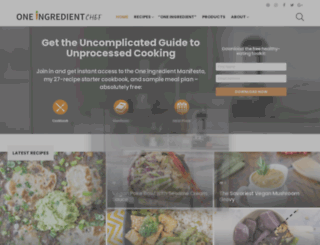 oneingredientchef.com screenshot
