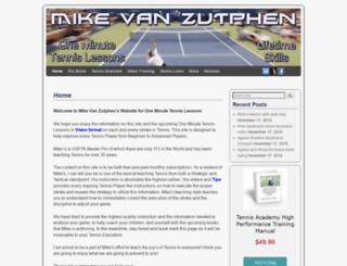 oneminutetennislesson.com screenshot