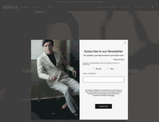 onenightonly.armani.com screenshot