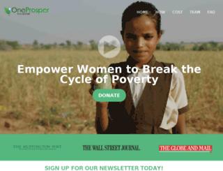 oneprosper.org screenshot