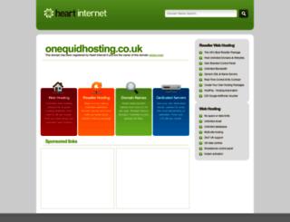 onequidhosting.co.uk screenshot