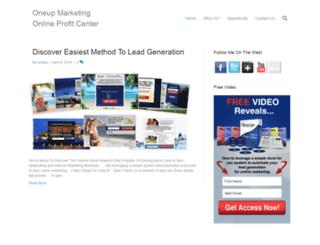 oneupmarketing.com screenshot