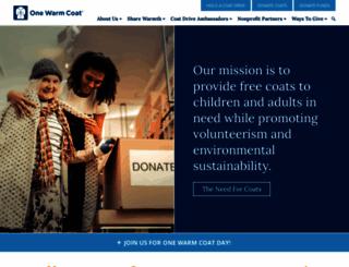 onewarmcoat.org screenshot