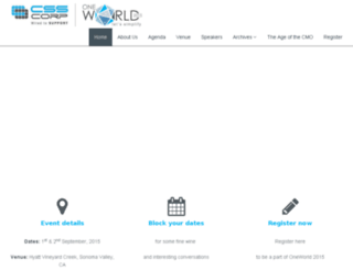 oneworld.csscorp.com screenshot
