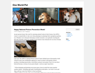 oneworldpet.com screenshot