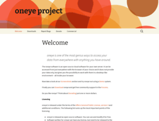 oneye-project.org screenshot