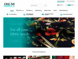 online-fabrics.co.uk screenshot