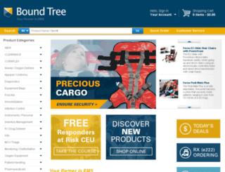 online.boundtree.com screenshot