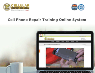 online.cellularrepairschool.com screenshot