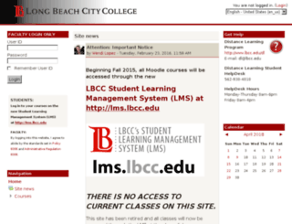 online.lbcc.edu screenshot