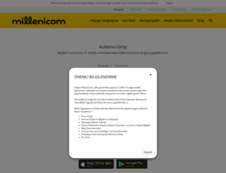 online.milleni.com.tr screenshot