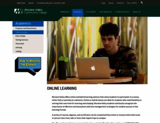 online.morainevalley.edu screenshot