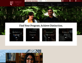 online.norwich.edu screenshot