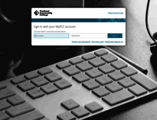 online.pcc.edu screenshot